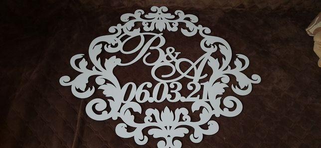 Свадебная надпись