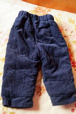 Продам утепленные вельветовые брюки