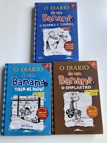 Conjunto 3 livros Diario de um Banana. Portes grátis.