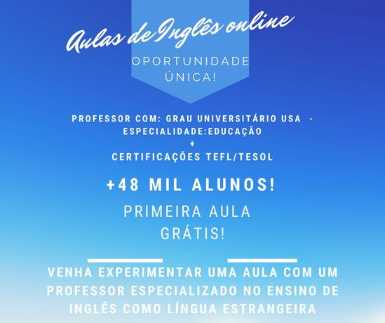 Aulas Inglês Online - Professor experiente
