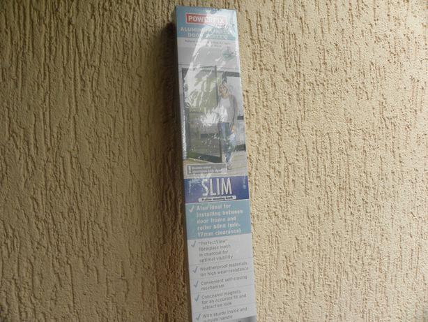Moskitiera - drzwi zew. z siatka , 100x210 /max/, brazowe.