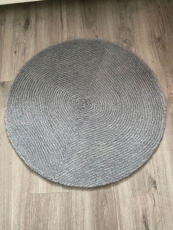 Dywanik okragly  szary 88 cm