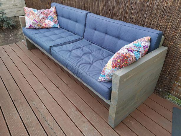 Nowoczesna Kanapa ogrodowa, meble ogrodowe, drewniane, sofa, ławka