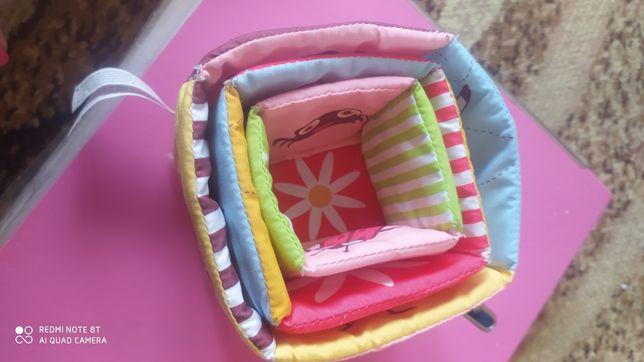 Игрушка для малышей пирамидка, пасочки, мягкая на липучках