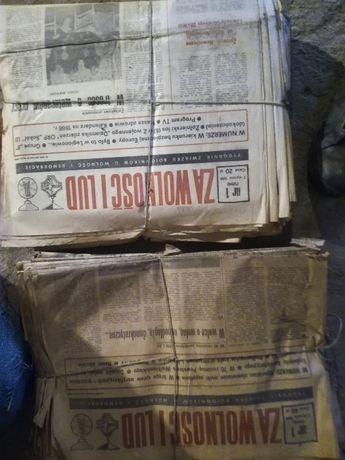 Stare gazet za wolność i lud prl