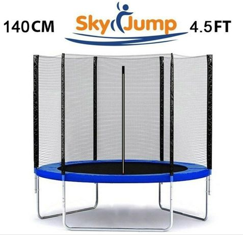 Польський батут Sky Jump 140 см із захисною сіткою