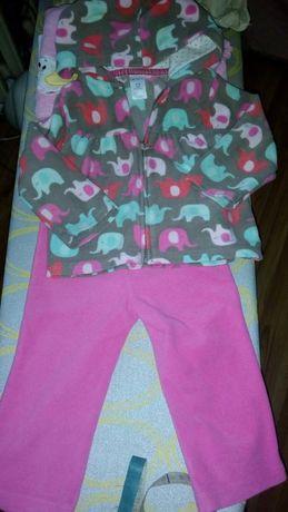Костюмчик флисовый, кофта, штаны Carter's.