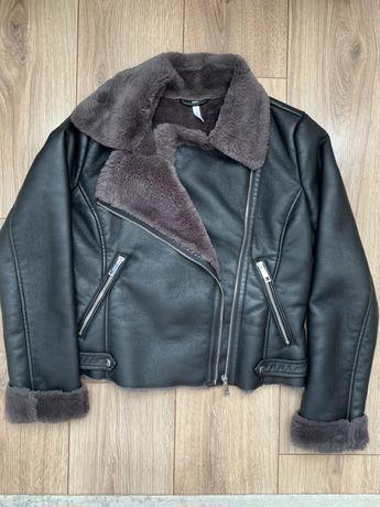 MANGO Куртка Авіатор з хутром Куртка Авиатор с мехом