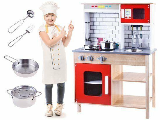Drewniana Kuchnia z akcesoriami dla dzieci