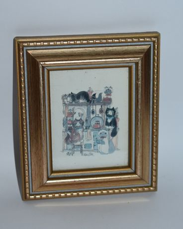 мини картина рисунок в рамке Dwardian miniatures whats cooking by Dian