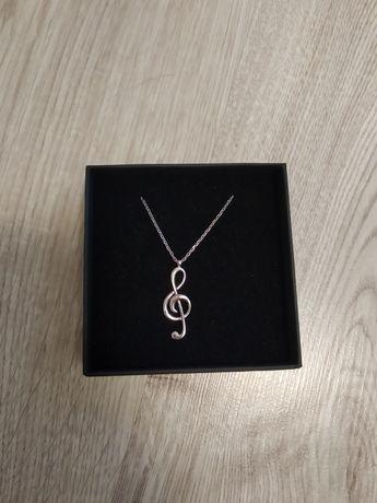 Srebrny wisiorek klucz wiolinowy