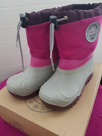 Buty zimowe śniegowce dziewczęce rozm. 29-30