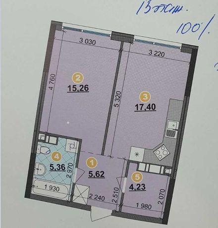 Продам 1-к.квартиру 48м2, 2 дом, ЖК Great ( Грейт ), Днепровская наб