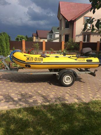 Лодка, мотор, прицеп