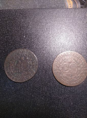 Moedas antigas e selos novos de coleção