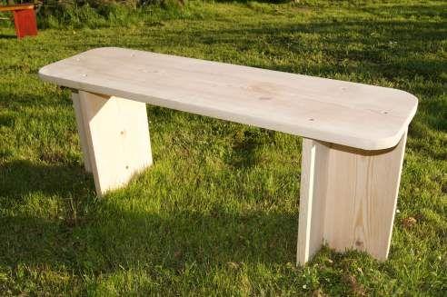 ławka ogrodowa drewniana