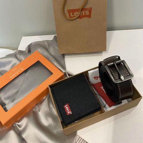 Zestaw prezentowy męski LEVI'S portfel + pasek