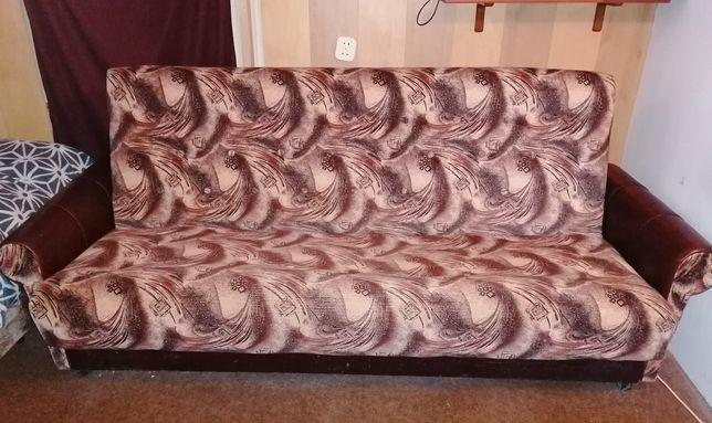 Komplet wypoczynkowy piękny wzór: wersalka, 2 fotele, 2 pufy