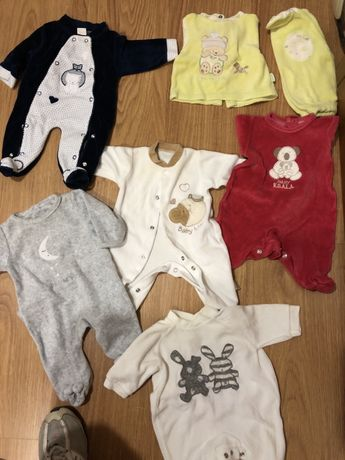 Babygrows 0-1 mês pack completo