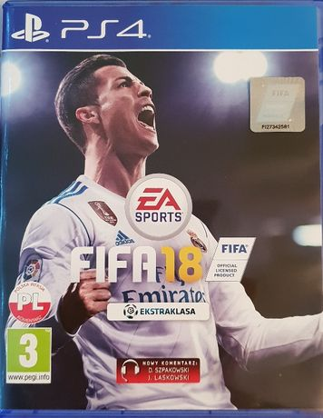 gra ps4 FIFA18 sportowa