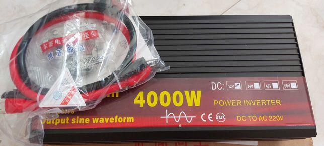 Iversor/Inverter 12v/220v onda pura 2000w/4000w pico