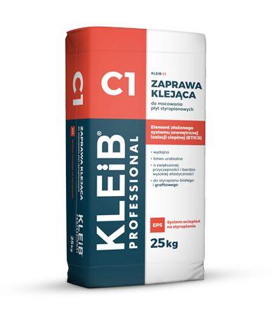 Klej do styropianu C1 | KLEIB | Zaprawa klejąca, 25kg | TRANSPORT