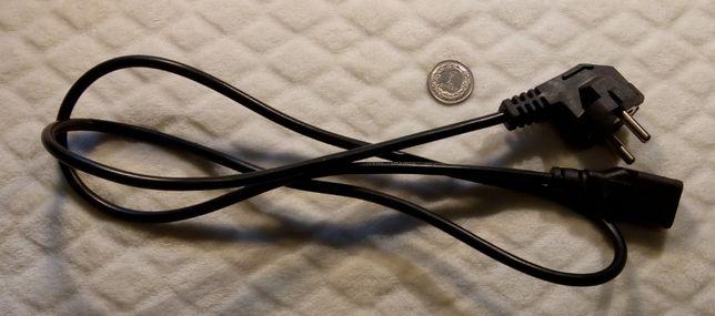 Kabel zasilania, komputerowy - czarny (120cm)