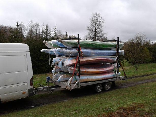 Stelaż kajakowy do przewozu transportu kajaków na przyczepa kajakowa