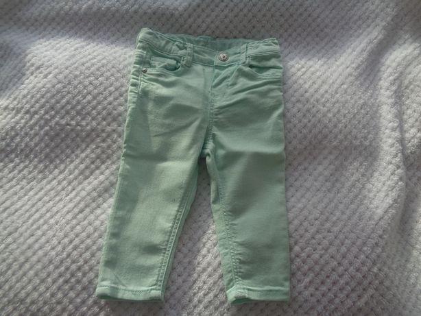 spodenki rurki, jeansy H&M rozmiar 74 jak nowe