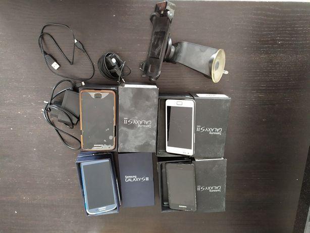 Samsung Galaxy S2 trzy sztuki S3 jedna sztuka - komplet