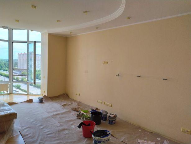 Покраска стен ремонт квартиры помещений ремонтно отделочные работы