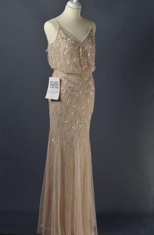 Sukienka z wyszywanymi aplikacjami Lace&Beads