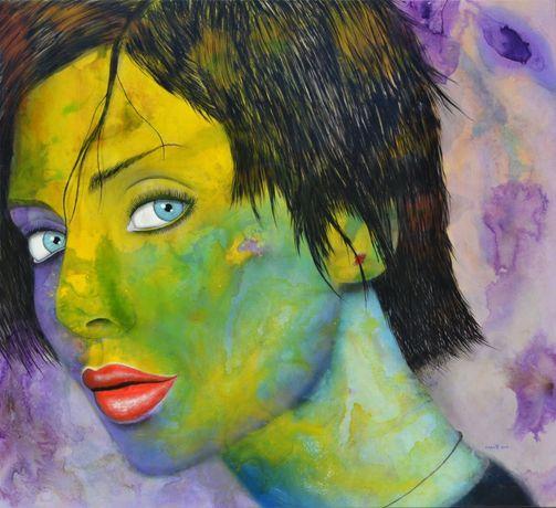 """Pintura Óleo - Capote """"Violet Dream"""""""