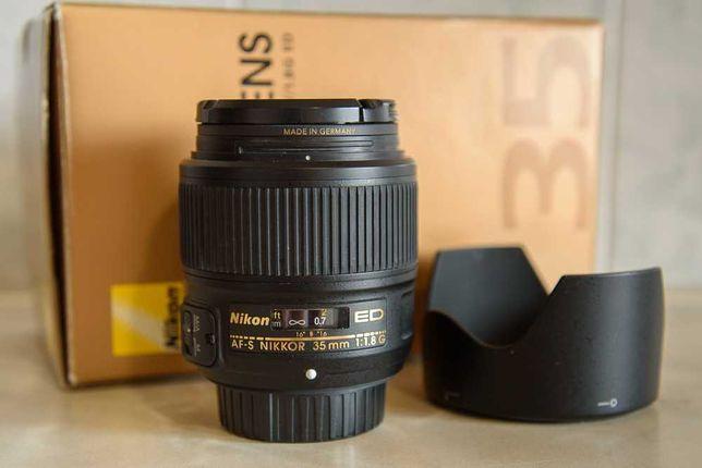Nikon 35mm 1.8G ED Полный кадр [+\- Фильтр B+W]