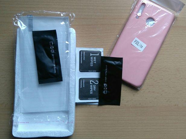 Szkło hartowane Huawei P30 lite 2 sztuki plus etui silikonowe case