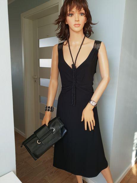 czarna sukienka rozm 44-48