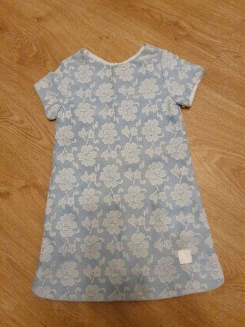 Sukienka błękitna 110cm dla dziewczynki prezent
