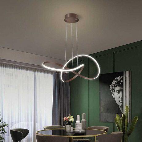 Lampa sufitowa wisząca nowoczesny LED brąz pilot