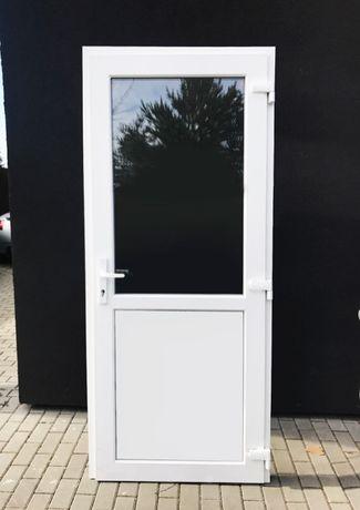 Drzwi białe szyba panel z PCV 110x210 . NOWE !!