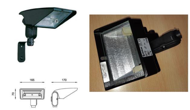 Projetor Halogeneo Aluminio Preto
