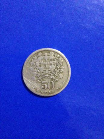 Moeda rara 50 centavos de 1938