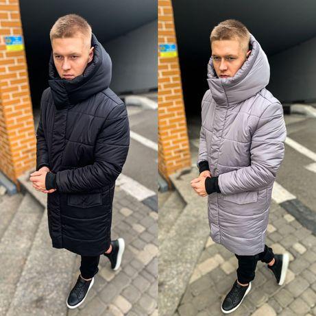 Хит 2020! Парка Пуховик Куртка Мужская Удлененная до-30 бушлат пальто