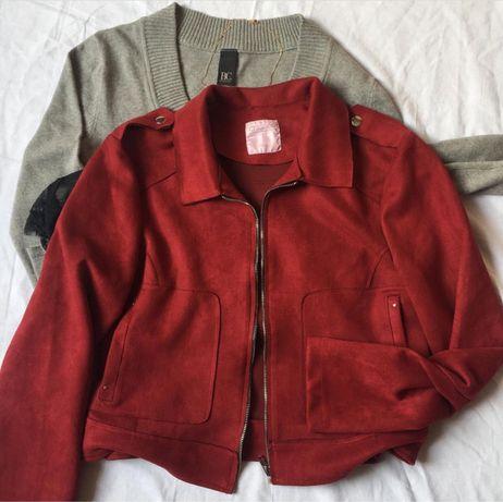 Замшевая куртка-косуха