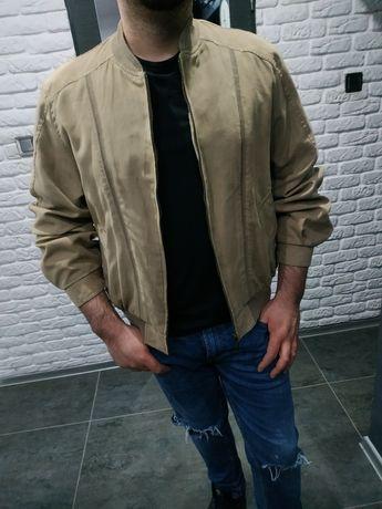 Dunmore lekka kurtka męska szwedka rozmiar l karmelowa przejściowa
