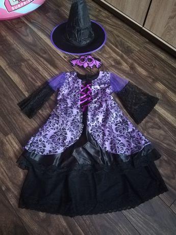 Zestaw strój karnawałowy przebranie  wróżki czarownicy, czarodziejki