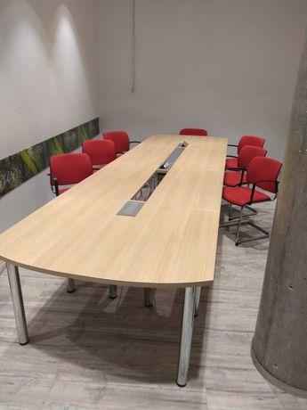 Stół konferencyjny mediaporty 410x120 jasny buk okazja