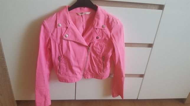Kurtka katana ramoneska jeans neon h&m xs 34