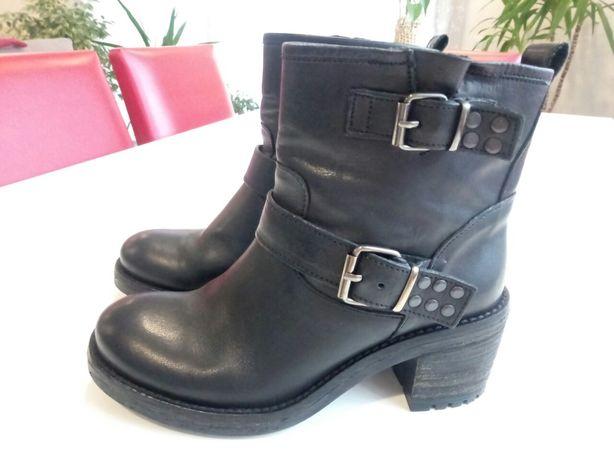 Сапоги ботинки кожаные, стелька ~24,5-25см