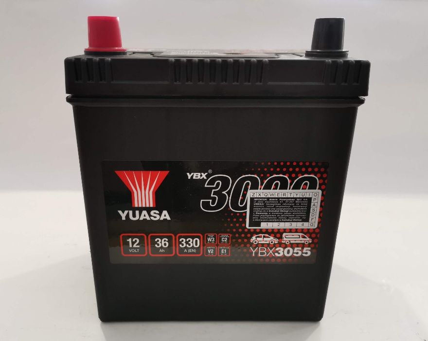 Akumulator YUASA YBX3055 36Ah 330A Promocja!!! L+