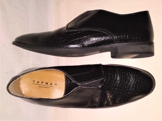 новые кожаные туфли мужские TOPMAN р.42 стелька на стопу 27,5см